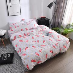 2018新品水洗棉四件套 1.2m(4英尺)床三件套 胡萝卜(水洗棉)