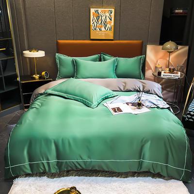 2021新款洛卡棉水洗真丝系列四件套 1.5m床单款四件套 薄荷绿