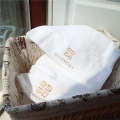 奢侈品大牌希尔顿酒店款埃及长绒棉毛巾浴巾两件套套巾 大牌系列-纪梵希(毛巾浴巾)