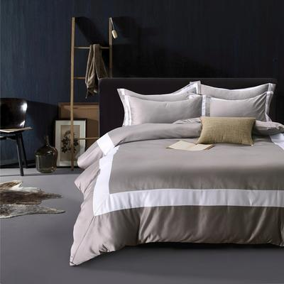(总) 欧式保暖高端60s水洗真丝长绒棉全棉四件套 1.8m(6英尺)床 米兰达/金