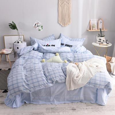 (总)ins全棉色织水洗棉绣花四件套纯棉小清新裸睡四件套(细节图) 1.2m床单款 青涩