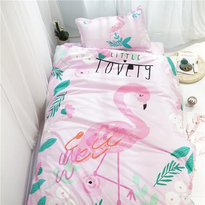 新款纯棉全棉卡通大版单人宿舍0.9m床上下铺学生三件套 床单款三件套 1.2m(4英尺)床 火烈鸟