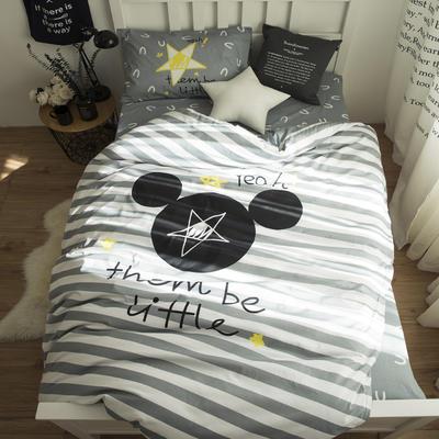 新款纯棉全棉卡通大版单人宿舍0.9m床上下铺学生三件套 床单款三件套 1.2m(4英尺)床 美国梦
