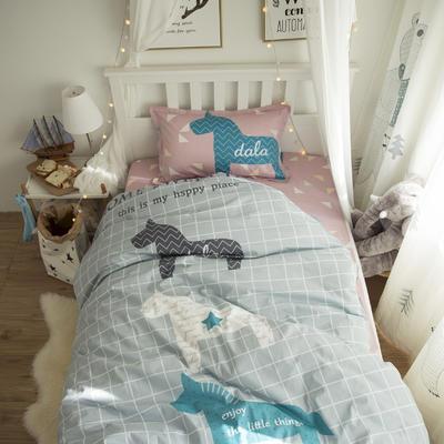 新款纯棉全棉卡通大版单人宿舍0.9m床上下铺学生三件套 床单款三件套 1.2m(4英尺)床 时光漫步