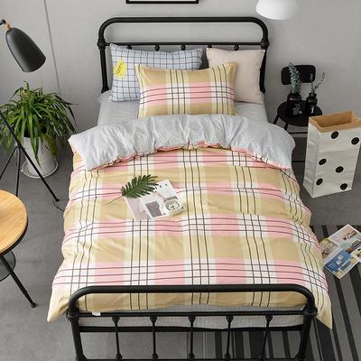 (总)全棉13372简约小清新学生宿舍床品单人床单款三件套 1.2m床 床单1.6 岁月静好