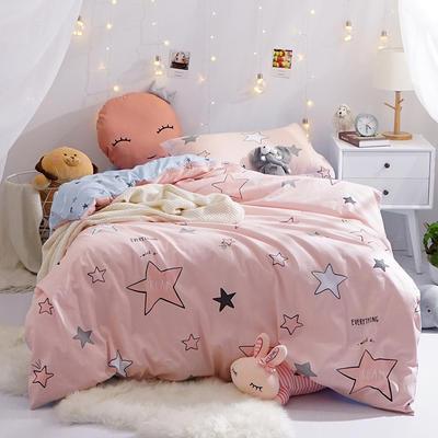 (总)全棉13372简约小清新学生宿舍床品单人床单款三件套 1.2m床 床单1.6 星空