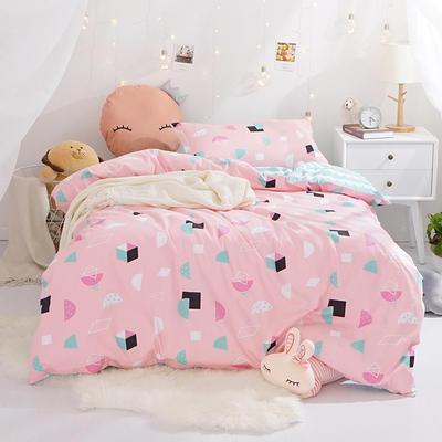 (总)全棉13372简约小清新学生宿舍床品单人床单款三件套 1.2m床 床单1.6 印象派