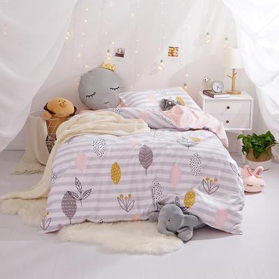 (小清新系列)新款学生宿舍床品全棉13372简约单人床单款三件套 1.2m床床单1.6 春意