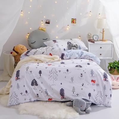 (小清新系列)新款学生宿舍床品全棉13372简约单人床单款三件套 1.2m床床单1.6 快乐森林