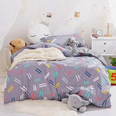 (小清新系列)新款学生宿舍床品全棉13372简约单人床单款三件套 1.2m床床单1.6 休闲时光