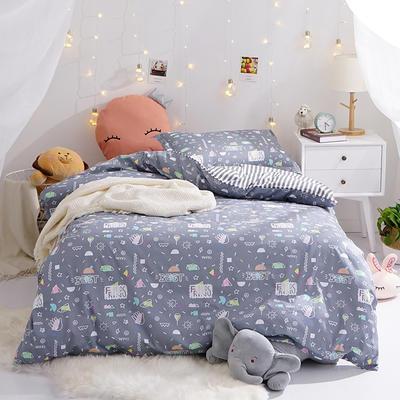 (小清新系列)新款学生宿舍床品全棉13372简约单人床单款三件套 1.2m床床单1.6 友情岁月