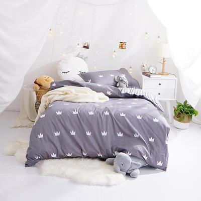 (小清新系列)新款学生宿舍床品全棉13372简约单人床单款三件套 1.2m床床单1.6 布鲁斯(灰)