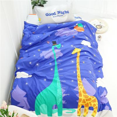 (总)新款纯棉全棉卡通大版单人宿舍0.9m床上下铺学生三件套 床单款三件套 被套160*210,床单160*220 童话镇