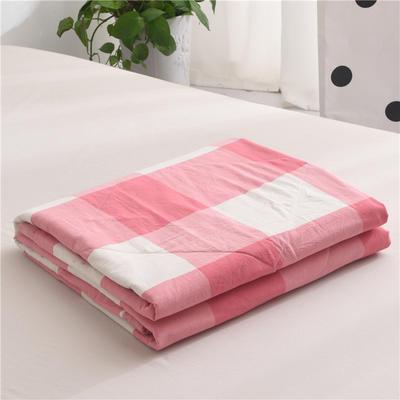 (总)全棉色织水洗棉夏被新疆棉花夏被空调被水洗棉夏被 枕套一只 红大格