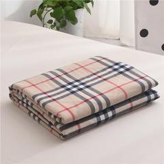 (总)全棉色织水洗棉夏被新疆棉花夏被空调被水洗棉夏被 枕套一只 英伦小格