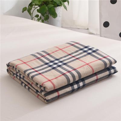 (总)全棉色织水洗棉夏被新疆棉花夏被空调被水洗棉夏被 夏被150x200cm 英伦小格