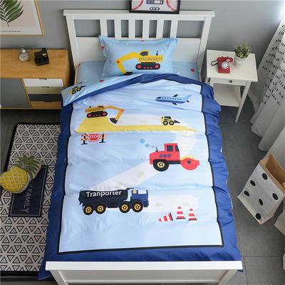 新款纯棉全棉卡通大版单人宿舍0.9m床上下铺学生三件套 床单款三件套 1.2m(4英尺)床 运输小队