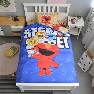 新款纯棉全棉卡通大版单人宿舍0.9m床上下铺学生三件套 床单款三件套 1.2m(4英尺)床 芝麻街
