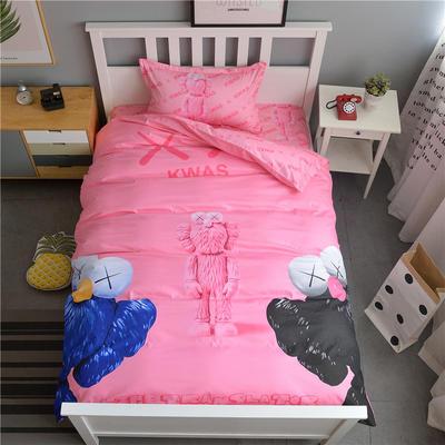 新款纯棉全棉卡通大版单人宿舍0.9m床上下铺学生三件套 床单款三件套 1.2m(4英尺)床 克瓦斯