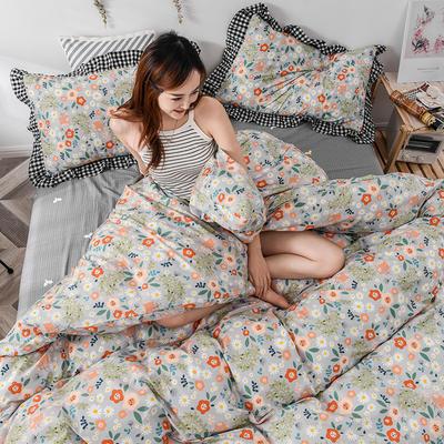 2020新款-全棉13070小碎花款韩版花边公主款纯棉四件套 床单款三件套1.2m(4英尺)床 花间蜜语