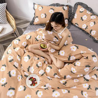 2020新款-全棉13070小碎花款韩版花边公主款纯棉四件套 床单款三件套1.2m(4英尺)床 浪漫花意