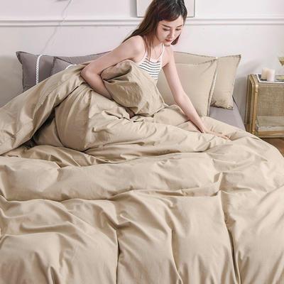 2020新款-全棉水洗棉纯色系列单品被套 200X230cm 简约咖