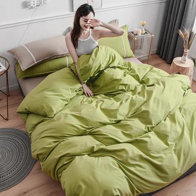 2020新款-全棉水洗棉纯色系列单品被套 200X230cm 简约绿