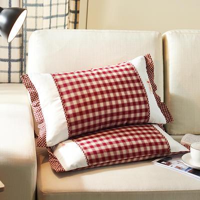 格调枕   荞麦 30*50cm红蓝方格