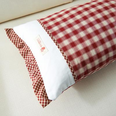 格调枕   荞麦 30*50cm红方格