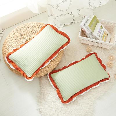花边枕  荞麦 30*50cm橘红