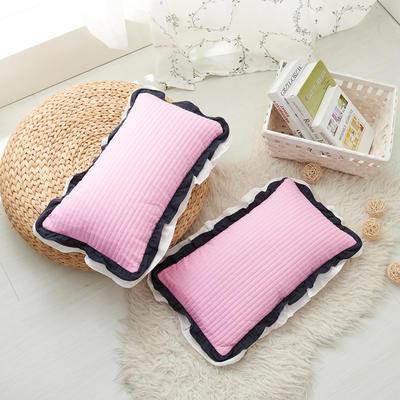 花边枕  荞麦 30*50cm粉红