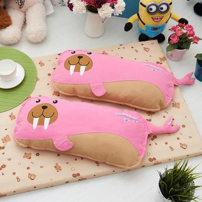 海豹(水洗棉) 荞麦枕 25*50cm小海豹--粉
