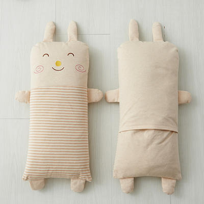 彩棉平面枕  荞麦枕 22*50cm兔斯基