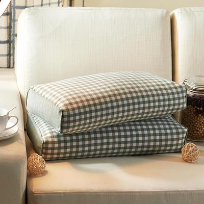 水洗立体枕 荞麦 24*52cm小绿格