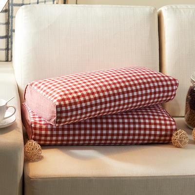 水洗立体枕 荞麦 24*52cm小红格