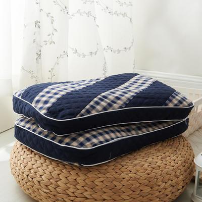 水洗双拼枕  荞麦枕 30*50cm宝蓝