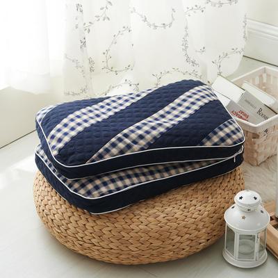 水洗双拼枕  荞麦枕 35*50cm普蓝