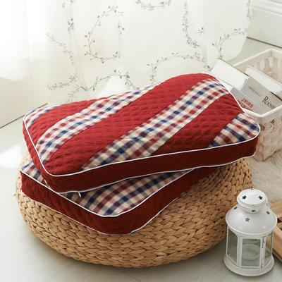 水洗双拼枕  荞麦枕 30*50cm大红