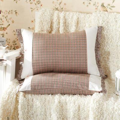田园绗缝枕 荞麦枕 35*55cm英伦时光