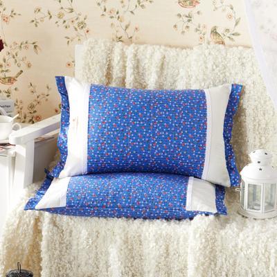 田园绗缝枕 荞麦枕 35*55cm蓝魅