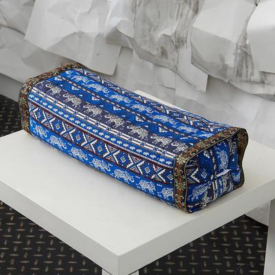 调节工艺枕 30*60cm草原之歌--蓝