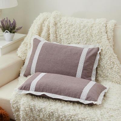 牛奶蕾丝花边枕(30*50cm) 褐色