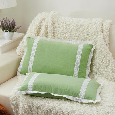 牛奶蕾丝花边枕(30*50cm) 嫩绿