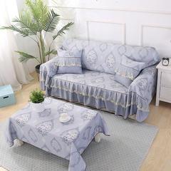 蕾丝双面专利款沙发巾 45*45cm(同款抱枕套) 爱丁堡-灰