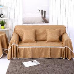 3D提花系列沙发巾 左贵妃170*260cm 凤之舞-咖