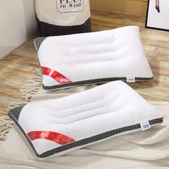 纯棉缎条决明子枕-绿色/灰色 灰色(48*74cm)