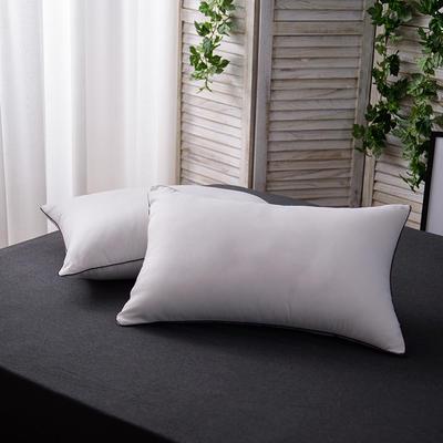2017 新款高弹棉压缩枕系列黑边磨毛压花枕 白色