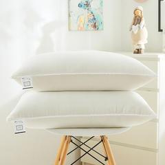 日式花边水洗枕(羽丝绒软枕)—西瓜红 白色