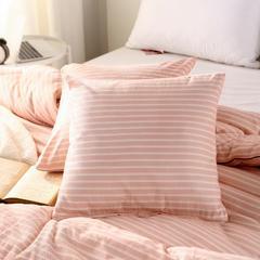 2018阳绒棉冬被色系抱枕套 45x45cm/个 粉桔