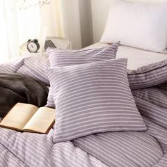2018阳绒棉冬被色系抱枕套 45x45cm/对 紫色